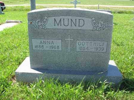 MUND 127, ANNA - Logan County, North Dakota   ANNA MUND 127 - North Dakota Gravestone Photos
