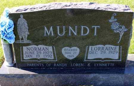 MUNDT, NORMAN - Logan County, North Dakota   NORMAN MUNDT - North Dakota Gravestone Photos