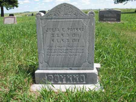 POYKKO, JULIA E. - Logan County, North Dakota   JULIA E. POYKKO - North Dakota Gravestone Photos