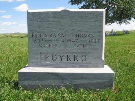 POYKKO, THOMAS - Logan County, North Dakota   THOMAS POYKKO - North Dakota Gravestone Photos
