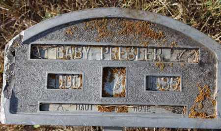 PRESLER, BABY - Logan County, North Dakota | BABY PRESLER - North Dakota Gravestone Photos