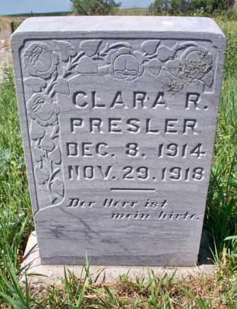 PRESLER, CLARA R. - Logan County, North Dakota | CLARA R. PRESLER - North Dakota Gravestone Photos