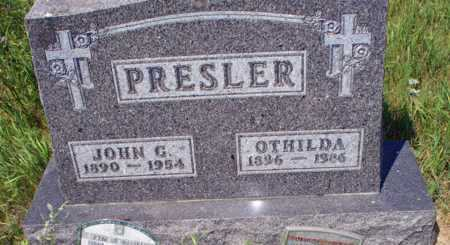 PRESLER, JOHN G. - Logan County, North Dakota | JOHN G. PRESLER - North Dakota Gravestone Photos