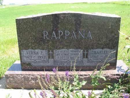 RAPPANA, VERNA E. - Logan County, North Dakota | VERNA E. RAPPANA - North Dakota Gravestone Photos