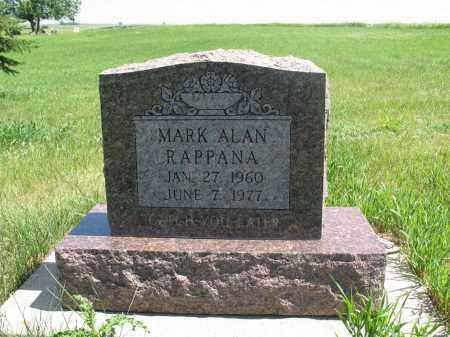 RAPPANA, MARK ALAN - Logan County, North Dakota | MARK ALAN RAPPANA - North Dakota Gravestone Photos