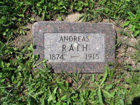 RATH 041, ANDREAS - Logan County, North Dakota   ANDREAS RATH 041 - North Dakota Gravestone Photos
