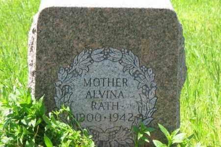 RATH, ALVINA - Logan County, North Dakota   ALVINA RATH - North Dakota Gravestone Photos