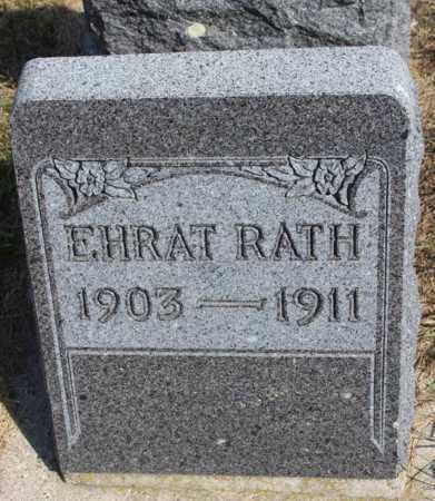 RATH, EHRAT - Logan County, North Dakota | EHRAT RATH - North Dakota Gravestone Photos