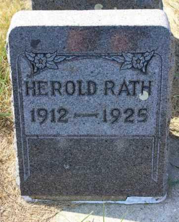 RATH, HEROLD - Logan County, North Dakota   HEROLD RATH - North Dakota Gravestone Photos
