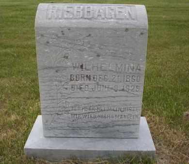 RIEBBAGEN (RIEBHAGEN), WILHELMINA - Logan County, North Dakota | WILHELMINA RIEBBAGEN (RIEBHAGEN) - North Dakota Gravestone Photos