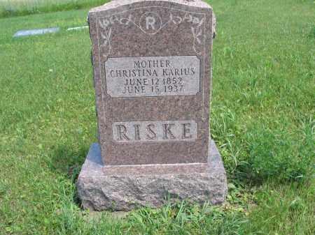 KARIUS RISKE 095, CHRISTINA - Logan County, North Dakota | CHRISTINA KARIUS RISKE 095 - North Dakota Gravestone Photos