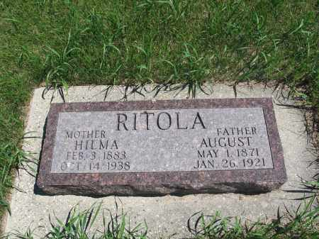 RITOLA, AUGUST - Logan County, North Dakota | AUGUST RITOLA - North Dakota Gravestone Photos