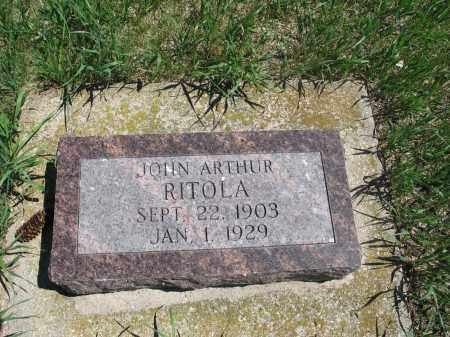 RITOLA, JOHN ARTHUR - Logan County, North Dakota | JOHN ARTHUR RITOLA - North Dakota Gravestone Photos
