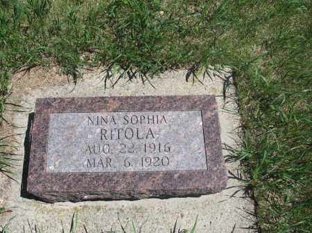 RITOLA, NINA SOPHIA - Logan County, North Dakota | NINA SOPHIA RITOLA - North Dakota Gravestone Photos