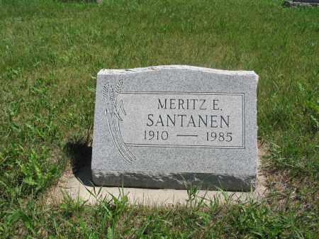 SANTANEN, MERITZ E. - Logan County, North Dakota | MERITZ E. SANTANEN - North Dakota Gravestone Photos