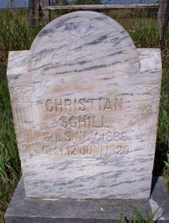 SCHILL, CHRISTIAN - Logan County, North Dakota | CHRISTIAN SCHILL - North Dakota Gravestone Photos
