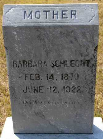 SCHLECHT, BARBARA - Logan County, North Dakota | BARBARA SCHLECHT - North Dakota Gravestone Photos
