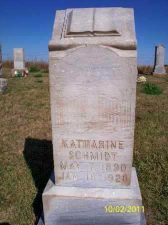 SCHMIDT, KATHARINE - Logan County, North Dakota | KATHARINE SCHMIDT - North Dakota Gravestone Photos
