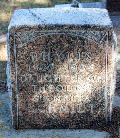 SCHMIDT, PHYLIS - Logan County, North Dakota | PHYLIS SCHMIDT - North Dakota Gravestone Photos
