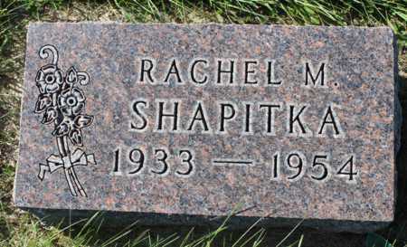 SHAPITKA, RACHEL M. - Logan County, North Dakota | RACHEL M. SHAPITKA - North Dakota Gravestone Photos