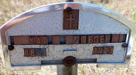 STEGER, KAT - Logan County, North Dakota   KAT STEGER - North Dakota Gravestone Photos