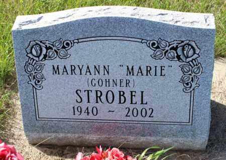 "GOHNER STROBEL, MARYANN ""MARIE"" - Logan County, North Dakota | MARYANN ""MARIE"" GOHNER STROBEL - North Dakota Gravestone Photos"