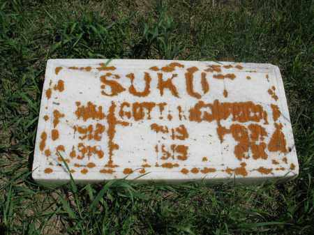 SUKUT 002, WM. - Logan County, North Dakota | WM. SUKUT 002 - North Dakota Gravestone Photos