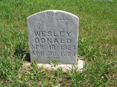 ISAACS, WESLEY DONALD - Logan County, North Dakota   WESLEY DONALD ISAACS - North Dakota Gravestone Photos