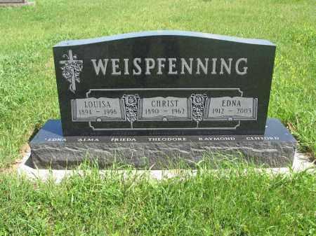 WEISPFENNING 081, LOUISA - Logan County, North Dakota   LOUISA WEISPFENNING 081 - North Dakota Gravestone Photos