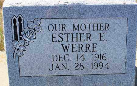 WERRE, ESTHER E. - Logan County, North Dakota | ESTHER E. WERRE - North Dakota Gravestone Photos