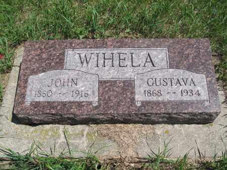 WIHELA, GUSTAVA - Logan County, North Dakota | GUSTAVA WIHELA - North Dakota Gravestone Photos