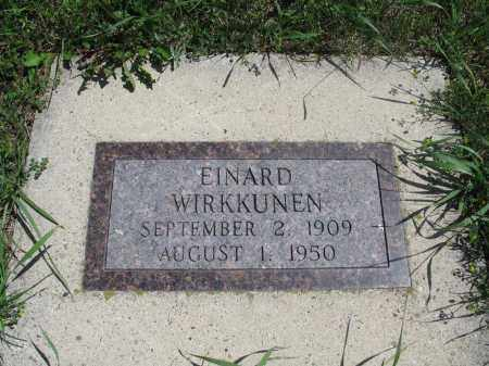 WIRKKUNEN, EINARD - Logan County, North Dakota | EINARD WIRKKUNEN - North Dakota Gravestone Photos