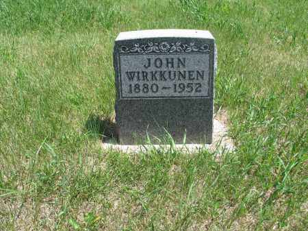 WIRKKUNEN, JOHN - Logan County, North Dakota | JOHN WIRKKUNEN - North Dakota Gravestone Photos