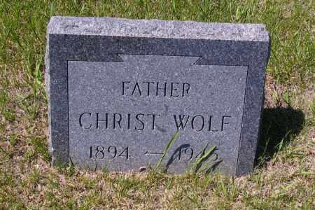WOLF, CHRIST - Logan County, North Dakota | CHRIST WOLF - North Dakota Gravestone Photos