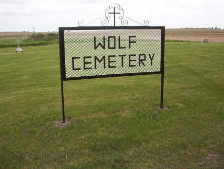 WOLF, CEMETERY - Logan County, North Dakota | CEMETERY WOLF - North Dakota Gravestone Photos