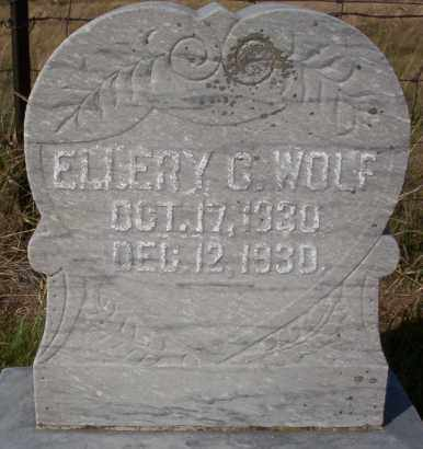WOLF, ELLERY C. - Logan County, North Dakota | ELLERY C. WOLF - North Dakota Gravestone Photos