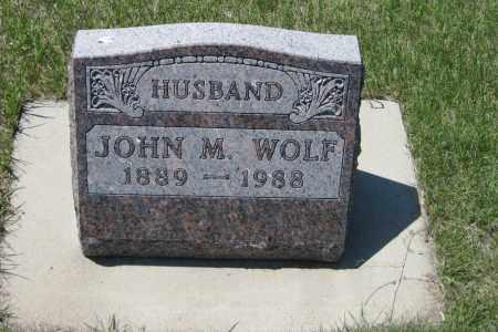 WOLF, JOHN M. - Logan County, North Dakota   JOHN M. WOLF - North Dakota Gravestone Photos