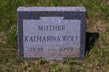 WOLF, KATHARINA - Logan County, North Dakota | KATHARINA WOLF - North Dakota Gravestone Photos