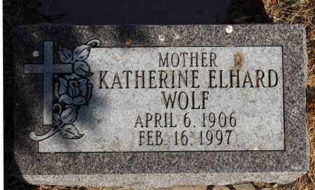 WOLF, KATHERINE - Logan County, North Dakota | KATHERINE WOLF - North Dakota Gravestone Photos
