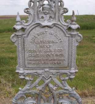 WOLF, KATHERINA - Logan County, North Dakota   KATHERINA WOLF - North Dakota Gravestone Photos