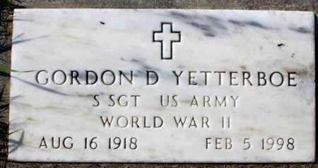 YETTERBOE, GORDON D. - Logan County, North Dakota | GORDON D. YETTERBOE - North Dakota Gravestone Photos