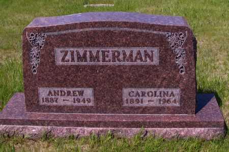 ZIMMERMAN, CAROLINA - Logan County, North Dakota | CAROLINA ZIMMERMAN - North Dakota Gravestone Photos