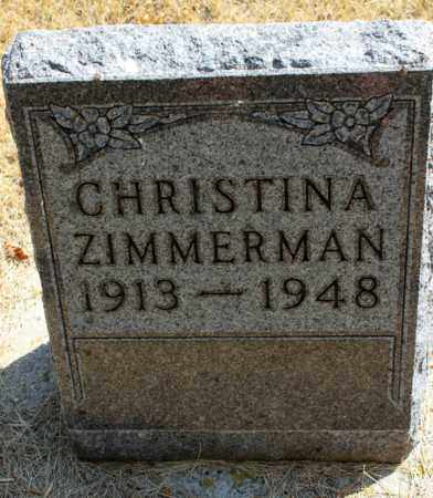 ZIMMERMAN, CHRISTINA - Logan County, North Dakota | CHRISTINA ZIMMERMAN - North Dakota Gravestone Photos