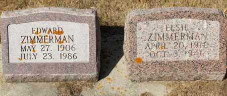 ZIMMERMAN, ELSIE - Logan County, North Dakota | ELSIE ZIMMERMAN - North Dakota Gravestone Photos