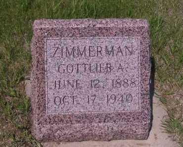 ZIMMERMAN, GOTTLIEB A. - Logan County, North Dakota | GOTTLIEB A. ZIMMERMAN - North Dakota Gravestone Photos