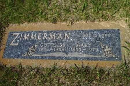 ZIMMERMAN, GOTTLIEB - Logan County, North Dakota | GOTTLIEB ZIMMERMAN - North Dakota Gravestone Photos