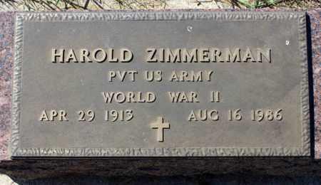 ZIMMERMAN, HAROLD - Logan County, North Dakota   HAROLD ZIMMERMAN - North Dakota Gravestone Photos
