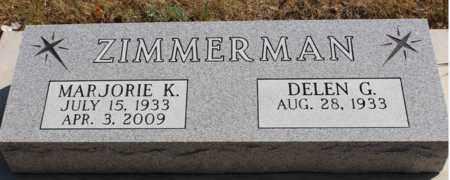 ZIMMERMAN, MARJORIE K. - Logan County, North Dakota   MARJORIE K. ZIMMERMAN - North Dakota Gravestone Photos