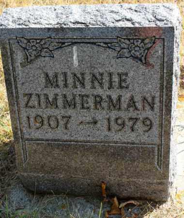 ZIMMERMAN, MINNIE - Logan County, North Dakota | MINNIE ZIMMERMAN - North Dakota Gravestone Photos