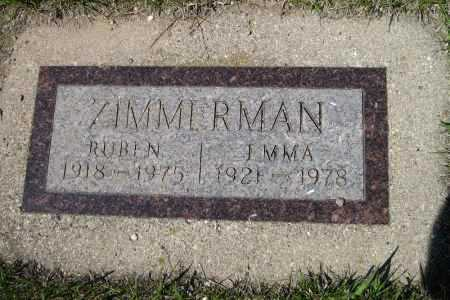 ZIMMERMAN, RUBIN - Logan County, North Dakota | RUBIN ZIMMERMAN - North Dakota Gravestone Photos